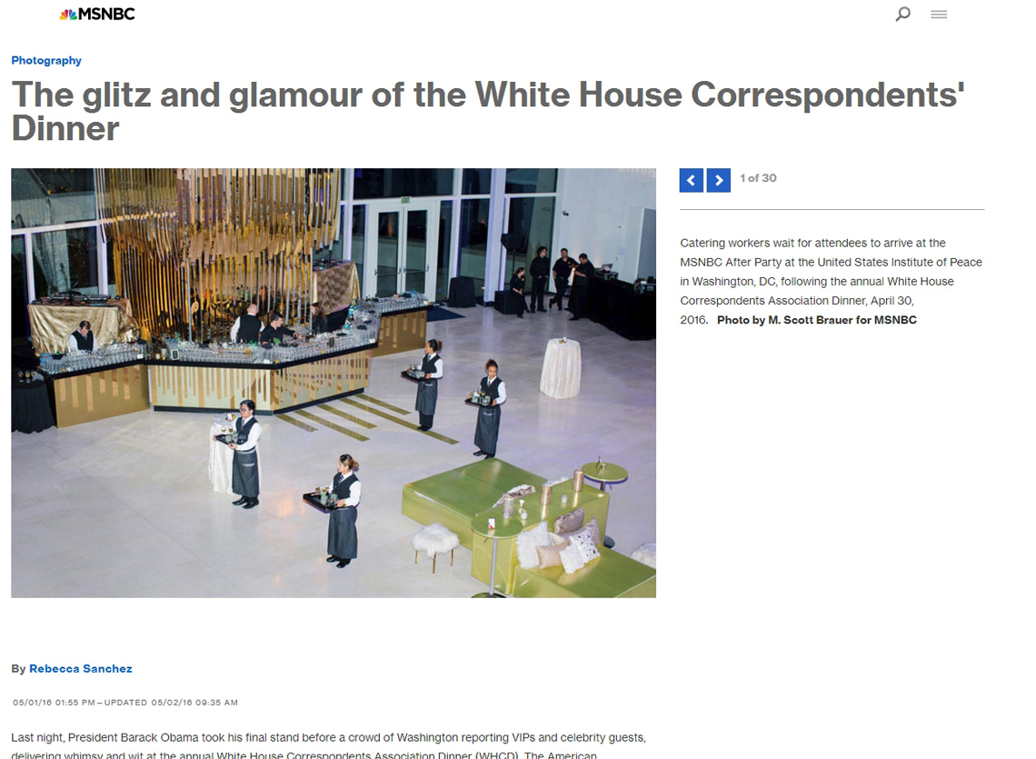 Tearsheet: White House Correspondents Association Dinner after party