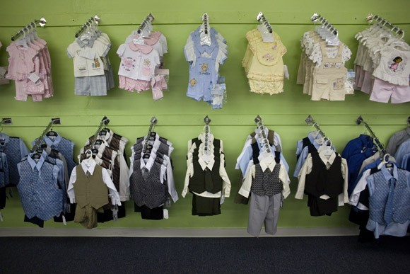 Children's clothing for sale in Pasco, Washington, USA.