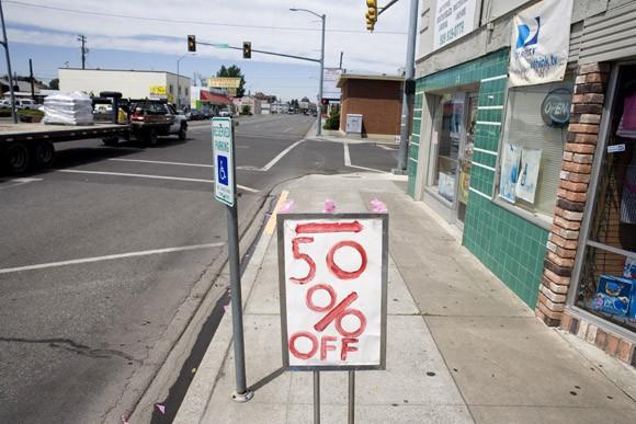 Empty streets in Pasco, Washington, USA.