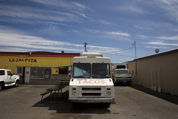 A taco truck in Pasco, Washington, USA.