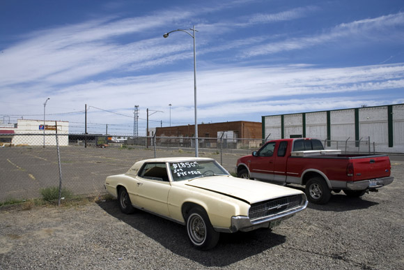 Cars parked in Pasco, Washington, USA.