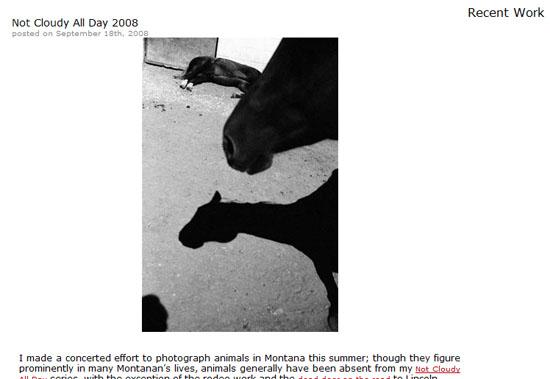 Screenshot of recent work section of portfolio site of M. Scott Brauer