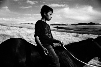 Bareback rider on Rocky Boy Reservation, Montana