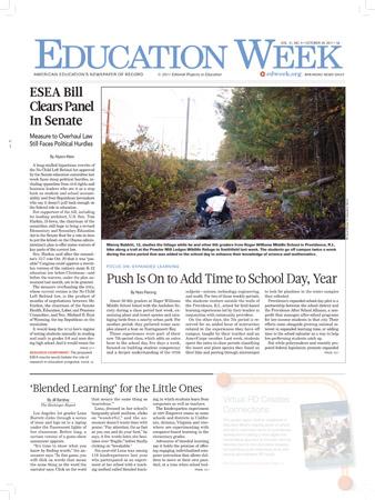 Education Week - 26 October 2011, p. 1
