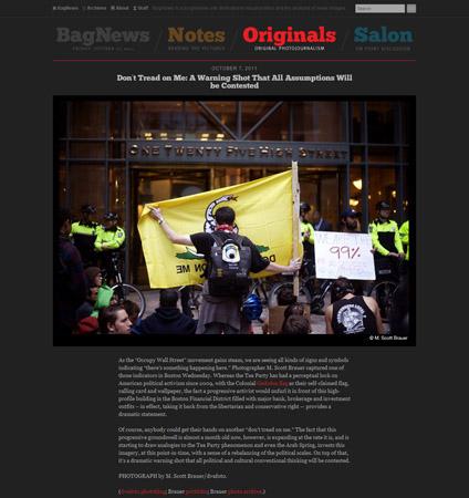 Screenshot of BagNewsNotes Originals featuring M. Scott Brauer - Occupy Boston